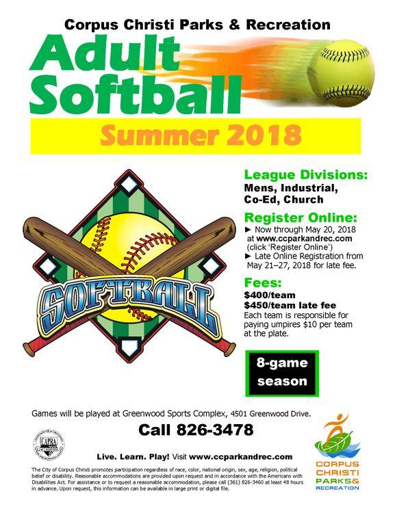 Softball League Flyer