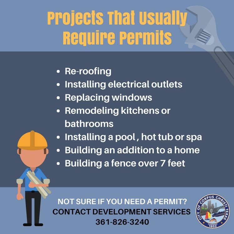 Projects that Usually Require Permits