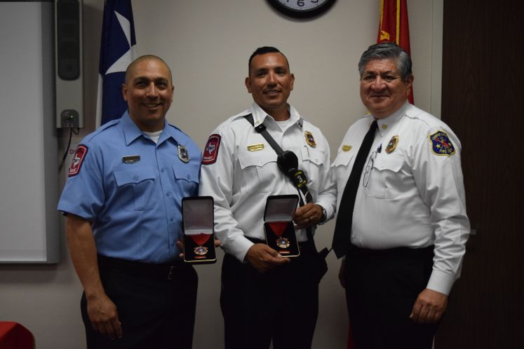 CCFD's M. Macias and T. Perez Receive Life Saving Awards