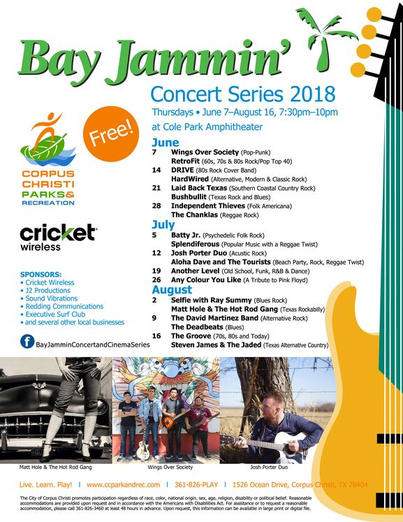 Bay Jammin Concert Flyer