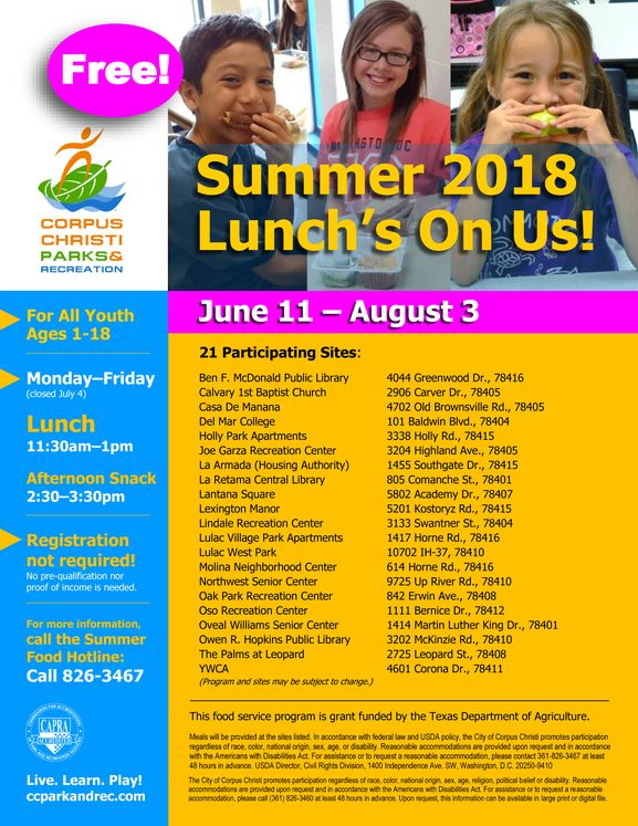 2018-Summer-Youth-Food-Program-Flyer