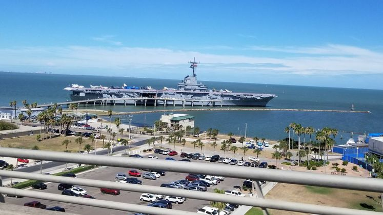 USS Lexington from Above