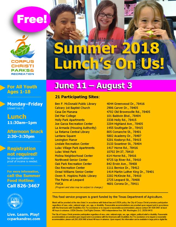 2018 Summer Youth Food Program