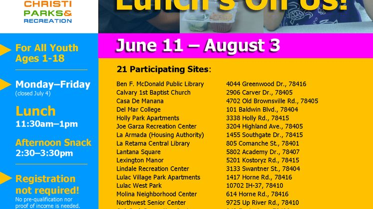 2018 Summer Youth Food Program