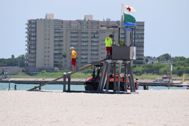 Lifeguards at McGee Beach