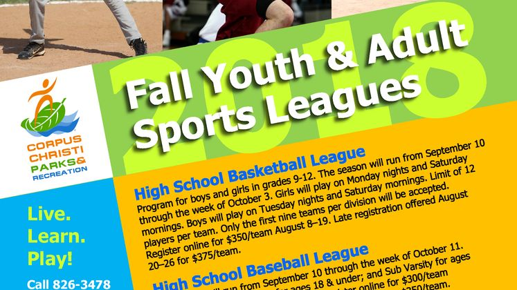 Fall Sports Leagues Flyer