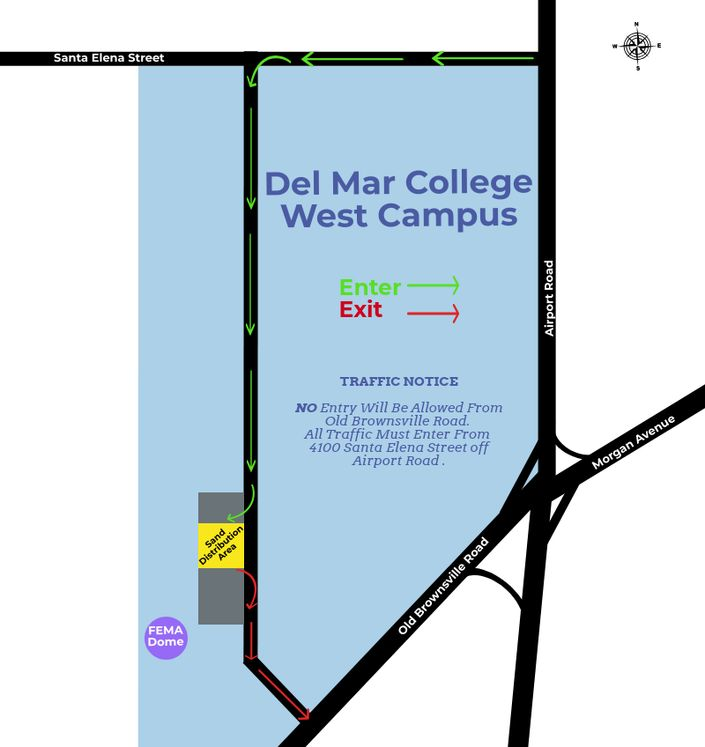 Del Mar Sandbag Saturday Map