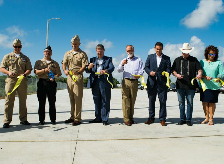 Commercial Vehicle Inspection at NAS Ribbon Cutting