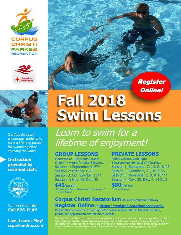 Fall Swim Lessons