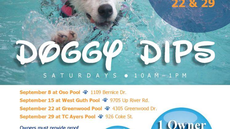 Sept Doggy Dip Flyer