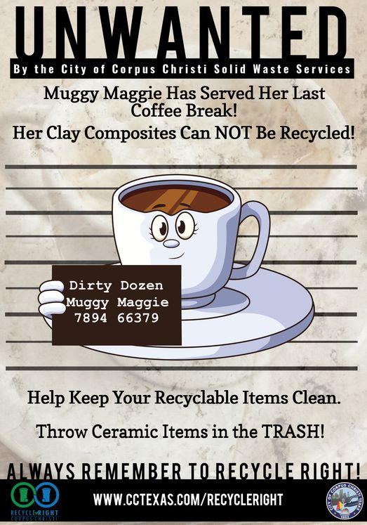 Recycle Right:  Muggy Maggie