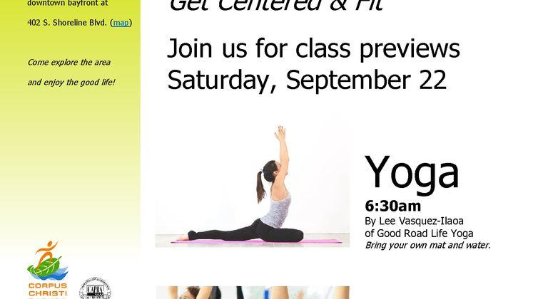Yoga Zumba Flyer