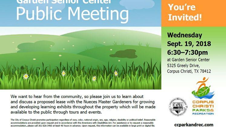 Public Meeting for Garden Senior Center