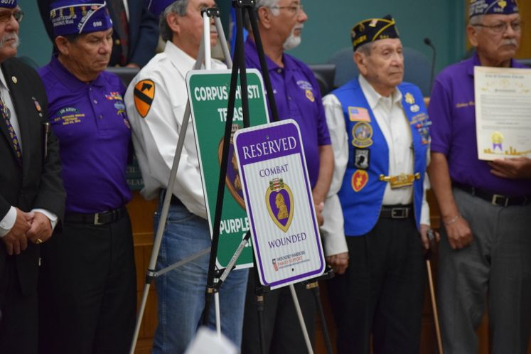 Mayor Proclaims Corpus Christi as Purple Heart City