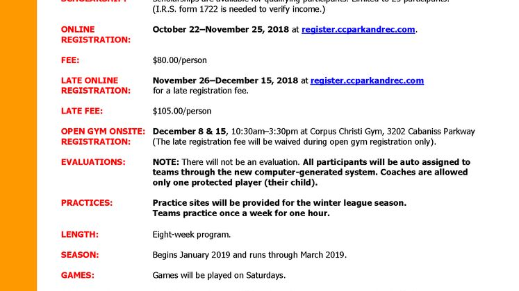 Basketball 2018-2019-Factsheet