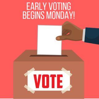 La votación por anticipado comienza el lunes para las elecciones generales y la elección especial de emisión de bonos del 2018.