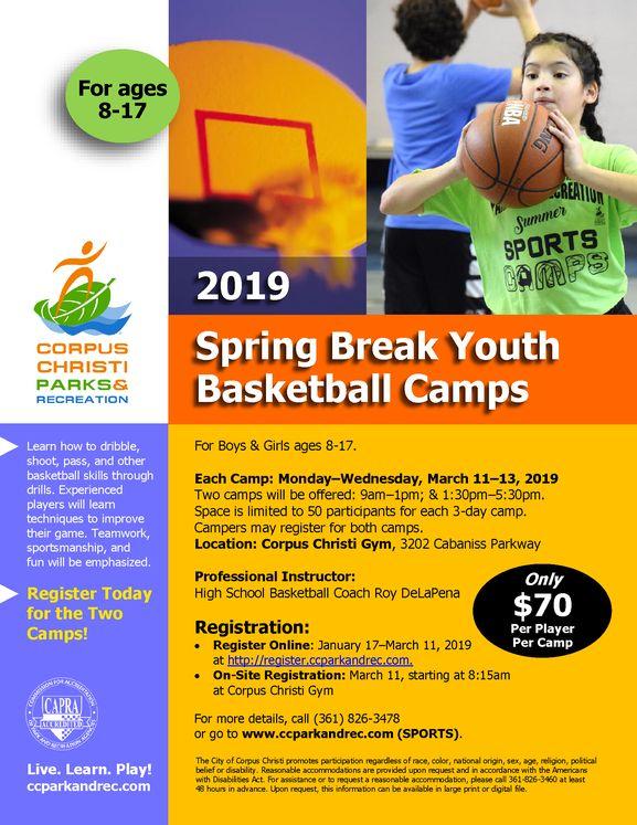 Spring Basketball Camp Flyer