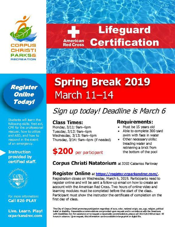 Lifeguard-Certification-Class-Flyer