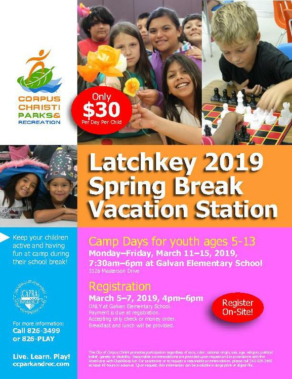 Spring Break Vacation Station Flyer