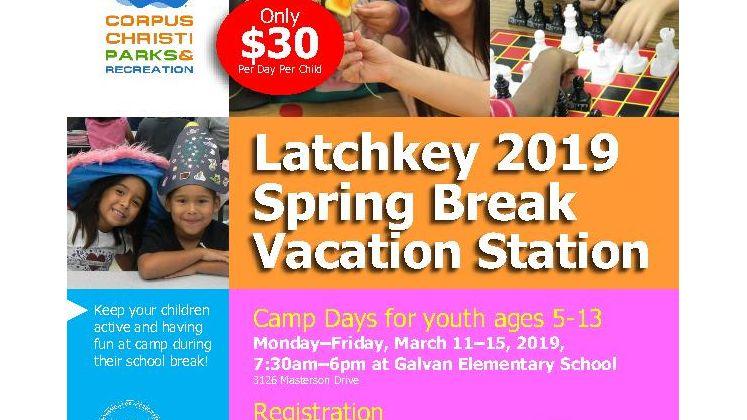 Spring Break Vacation Station Flyer
