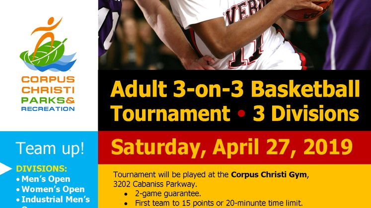 Adult 3 on 3 Basketball Flyer