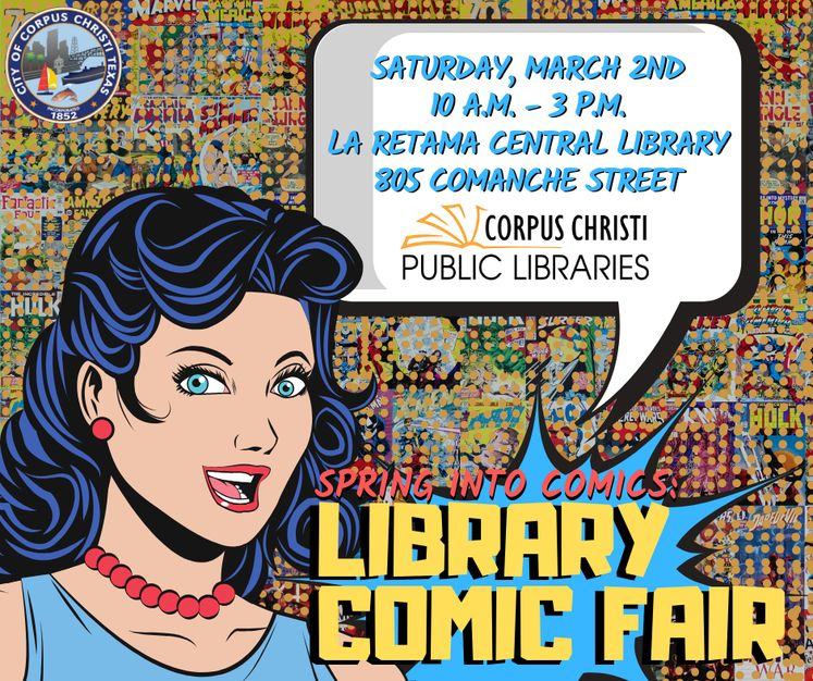 Graphic 2-26-19 Library Comic Book Fair