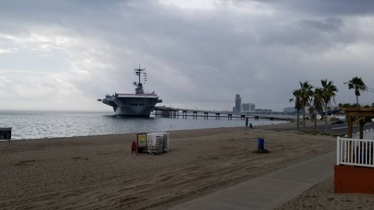 USS Lexington on the Bay Before a Cold Front
