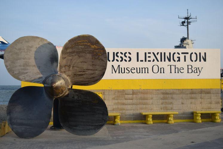USS Lexington Entrance