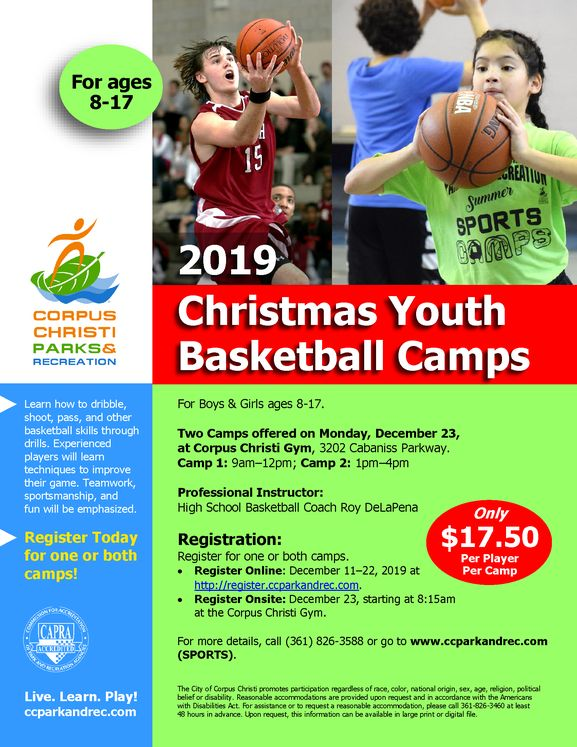 2019 Youth Basketball Camp Flyer