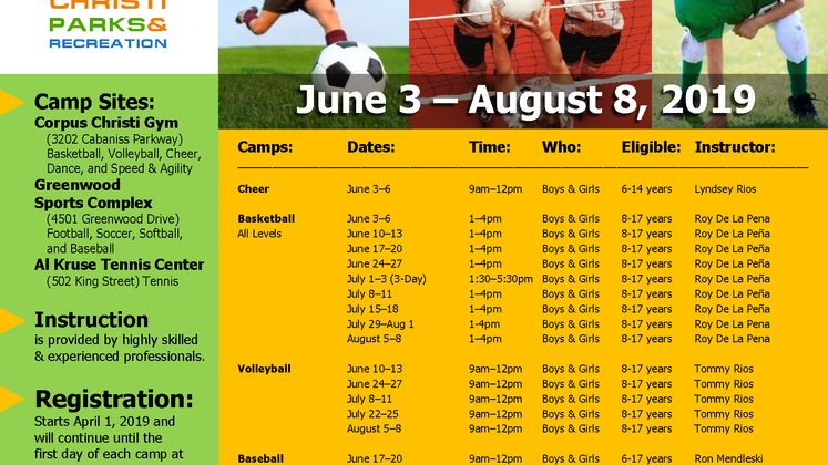 2019 Summer Youth Camps