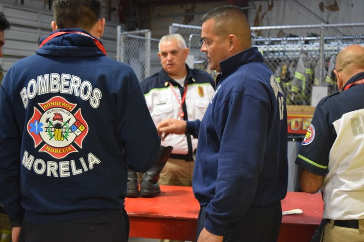 Mexican Firefighters in Town for Training