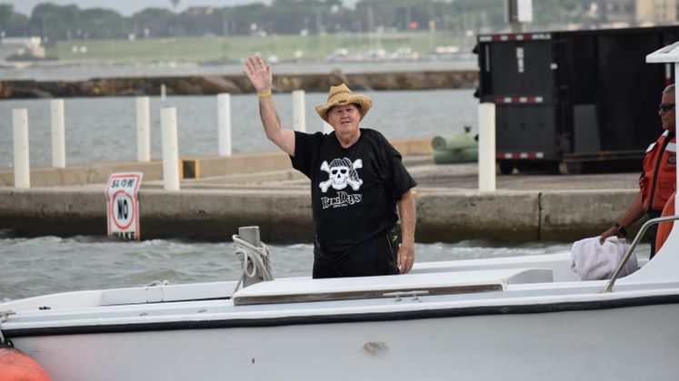 Mayor McComb Walks the Plank - Buc Days!