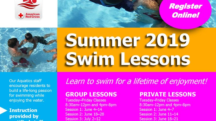Swim Lessons flyer