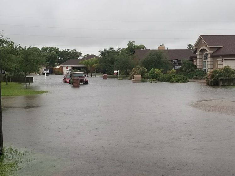 Flooding in Flour Bluff After Rain Event