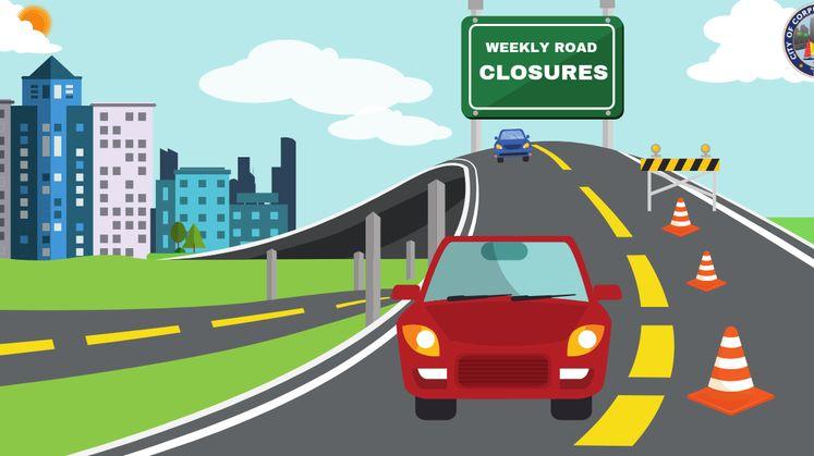 2019 Weekly Road Closures