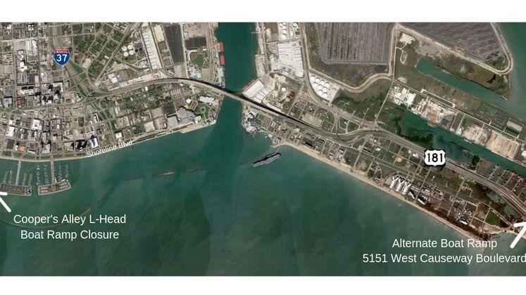 Marina Boat Ramp Closure Map