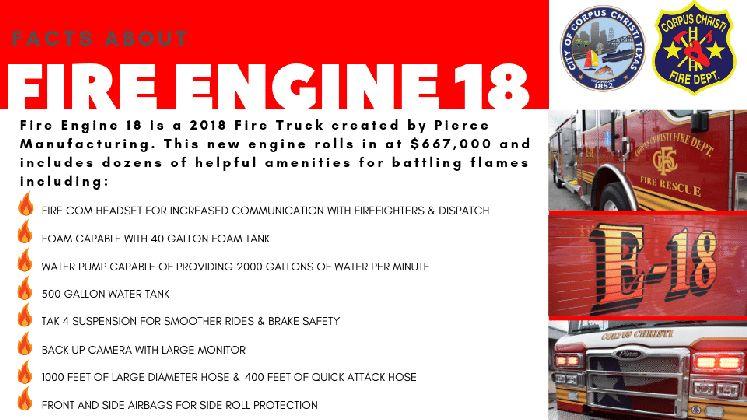 Fire Engine 18 - FACT SHEET 1