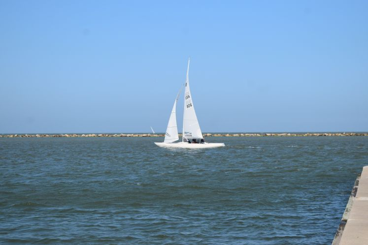 Sailboat in Corpus Christi Bay