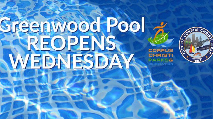Greenwood Pool Reopens Wednesday