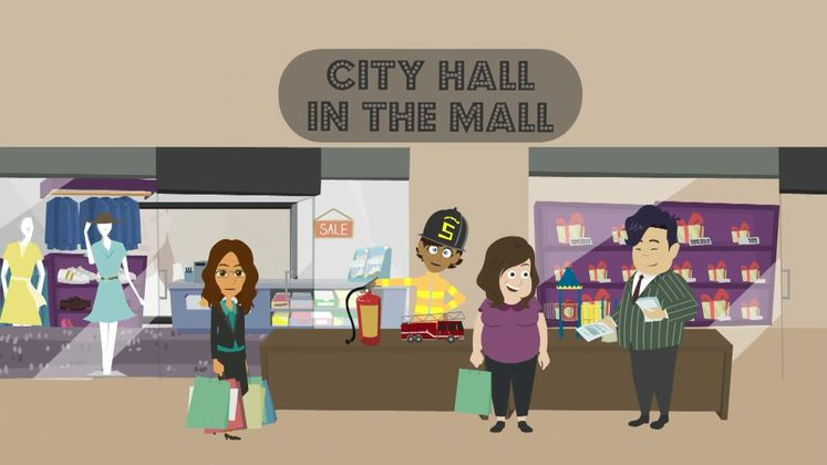 Check out city services at City Hall in the Mall