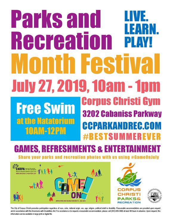 Parks & Rec Festival Flyer