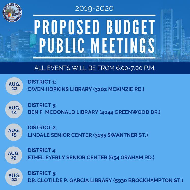 All Budget Public Meeting Social Media post