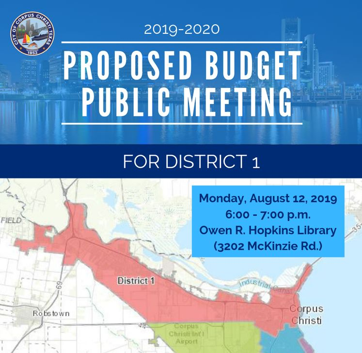 Dist. 1 Map Budget Public Meeting