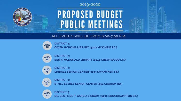 Budget Public Meetings