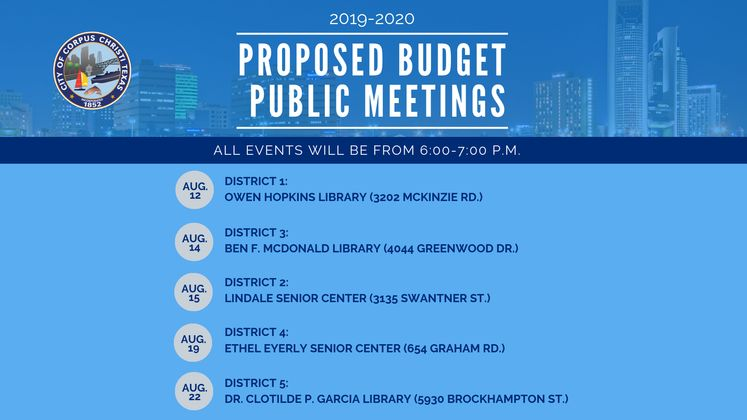Budget Public Meetings