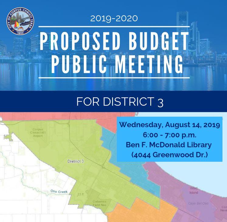 Dist. 3 Map Budget Public Meeting