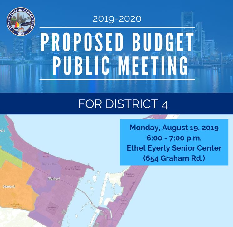Dist. 4 Map Budget Public Meeting