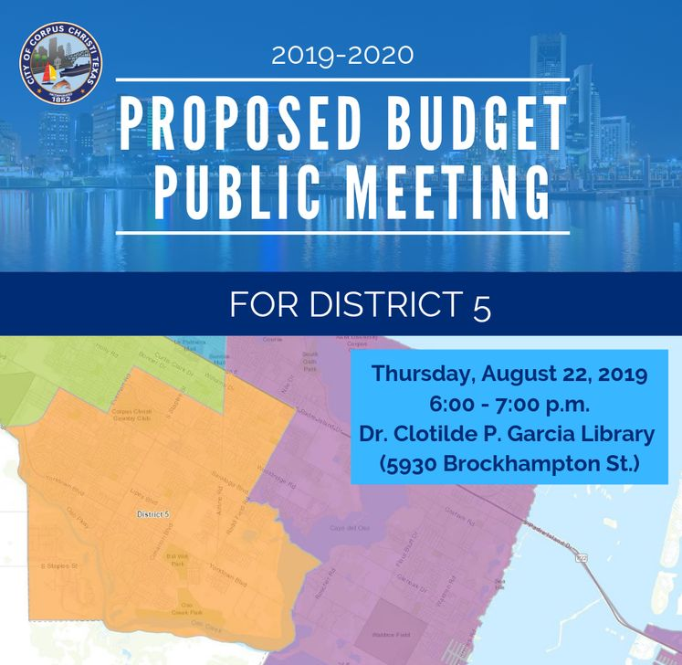 Dist. 5 Map Budget Public Meeting