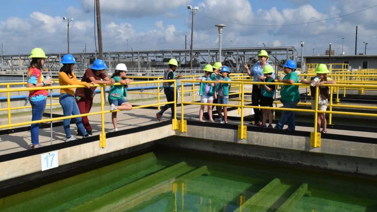 Girl Scouts Tour the ONSWTP