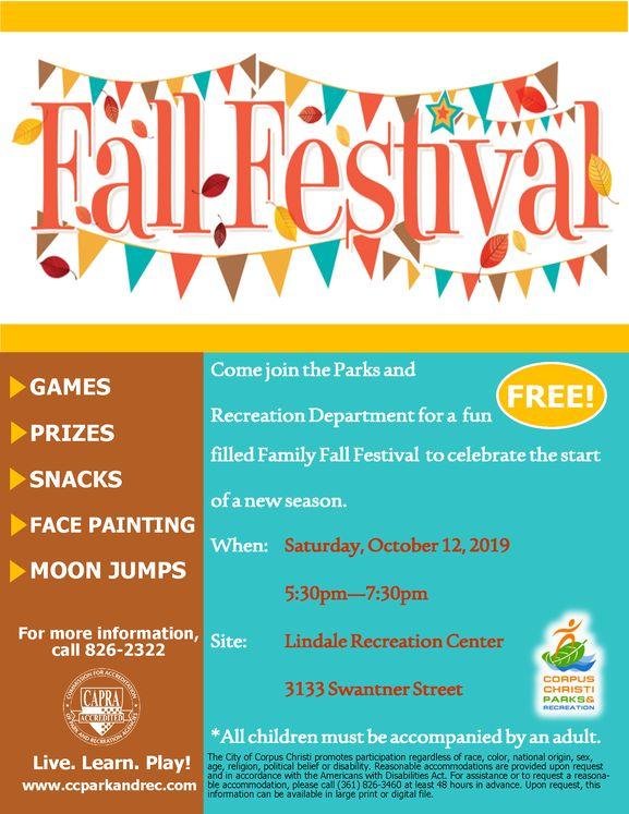 2019 Fall Festival Flyer